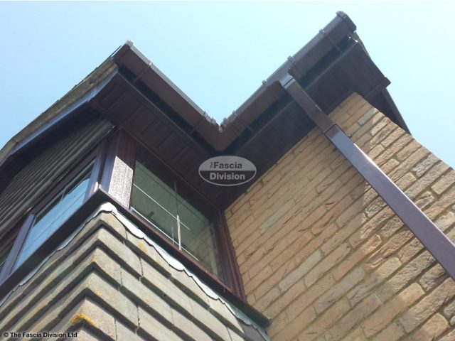 woodgrain tongue and groove soffit