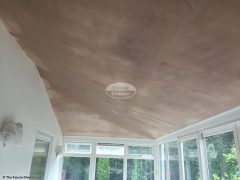Equinox roof inside after being plastered in Woking