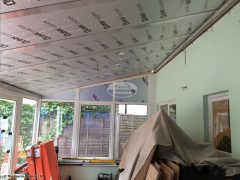 Equinox roof with insulation fitted
