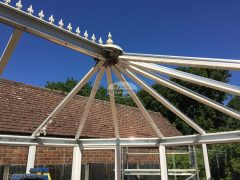Removal of existing conservatory roof bars