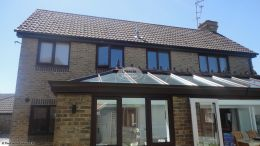 Replacing fascias soffits and guttering at back of detached house Southwater