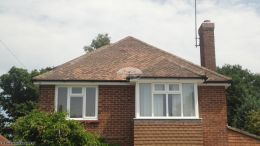 Replacement of UPVC white fascias soffits and black half round guttering Chobham Guildford