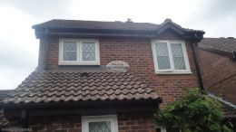 Replacement rosewood fascia soffit and guttering Godalming Guildford