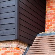Midnight black Hardieplank weatherboard cladding photo