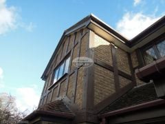 New fascias, soffits, guttering and mock tudor Replica Wood beams