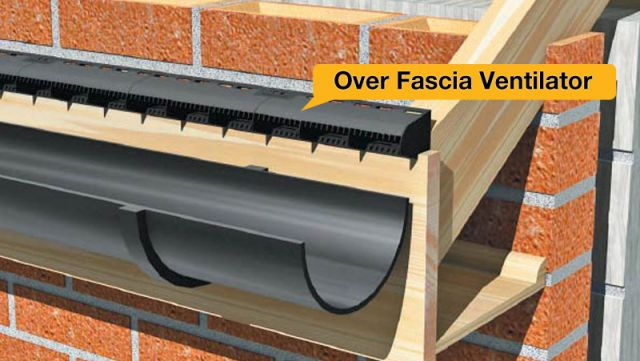 Over fascia ventilation illustration
