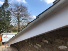 Cement mortar repoint roof and install new UPVC bargeboards