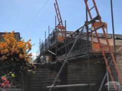 Scaffolding for roofing in Shalford