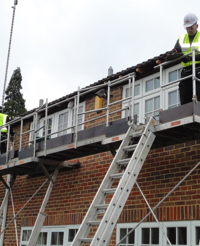 Full replacement of fascia, soffit and guttering using our access system