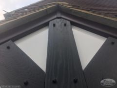 Composite mock tudor boards in black