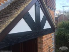 Rosewood bargeboards with black Replica Wood mock tudor boards