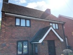 Fascias and soffits on a detached house