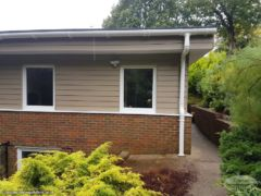 Hardieplank cladding with UPVC guttering