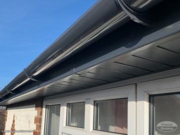 anthracite soffits and fascias installation
