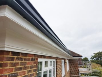 New UPVC fascias and soffits with continuous guttering